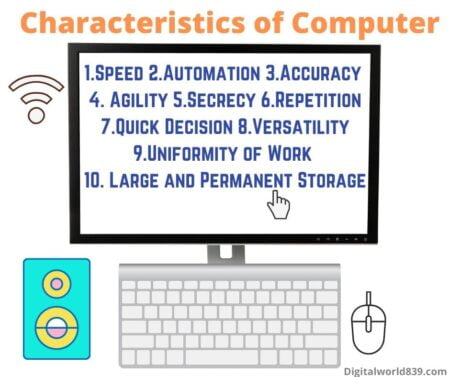 Characteristics (features) of Computer