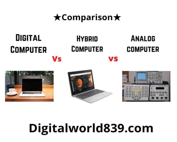 Difference between Analog, Digital, and Hybrid Computers
