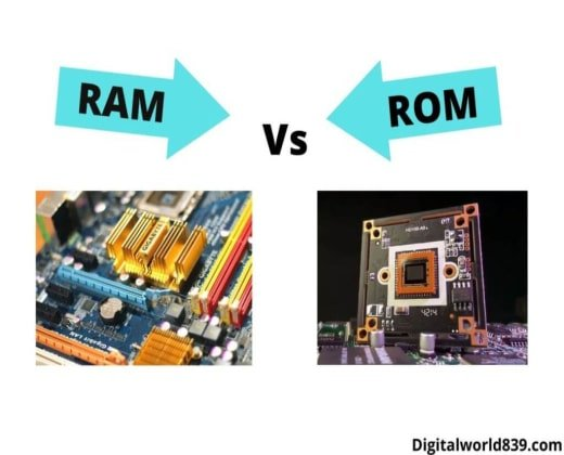 Difference Between ram and rom