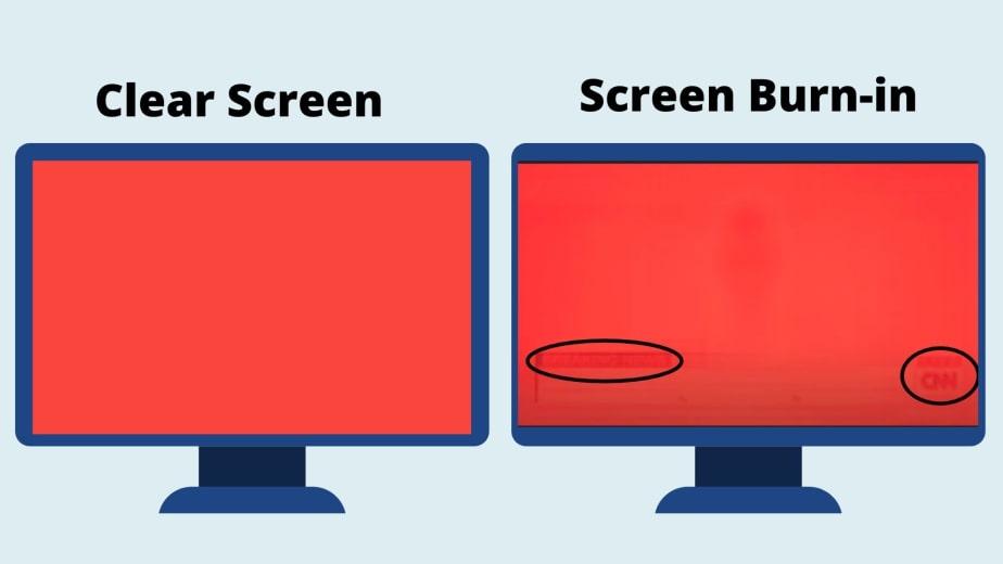 Burned Image on screen