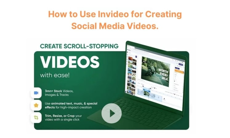 How to use Invideo, an online video editor for creating social media videos.