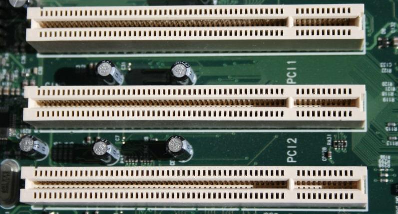 PCI slots.