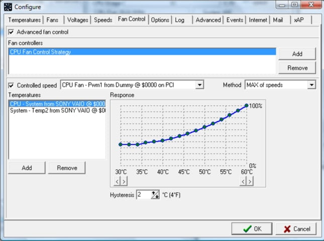 Software to control and disable fan speed