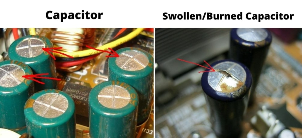 exploded Capacitor
