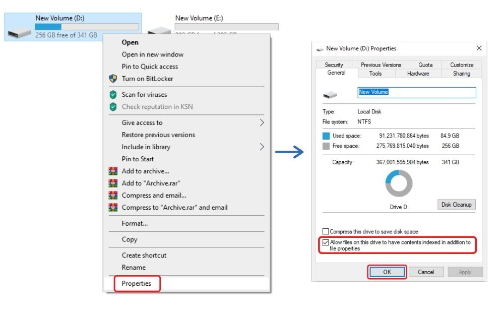 Make sure your hard drive has file indexing enabled
