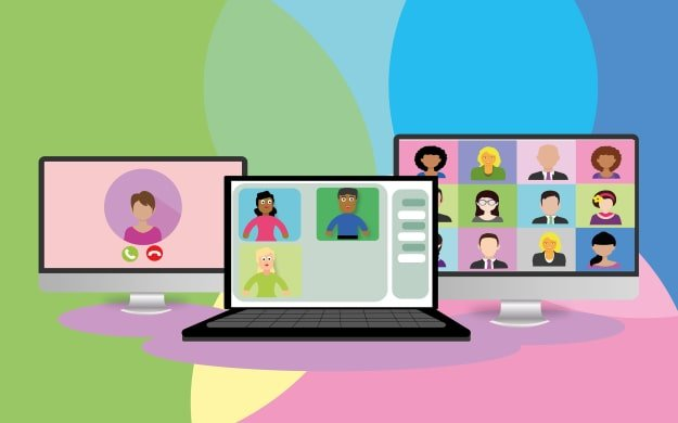 online learning by using computer